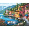Gold Collection Lakeside Village Counted Cross Stitch Kit-15\u0022X12\u0022 16 Count