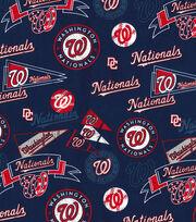 Washington Nationals Vintage Cotton Fabric 44''-Navy, , hi-res