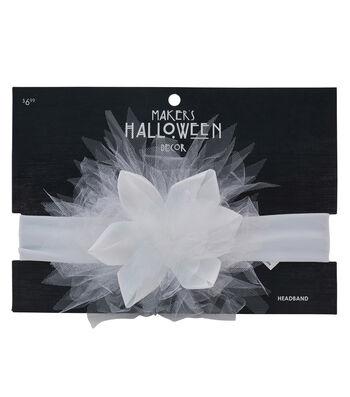 Maker's Halloween Infant Headband-White