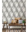 WallPops NuWallpaper Bauhaus Weathered Wood Peel and Stick Wallpaper