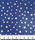 Soft & Comfy Fleece Fabric 58\u0022-Metallic Stars on Navy