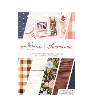Park Lane Paperie 24 pk 6''x8'' Printed Cardstock-Americana