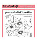 Uniquely Creative 4\u0022X6\u0022 Clear Stamps 7/Pkg-Endless Potential Bloom