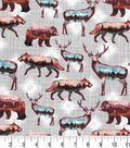 Novelty Cotton Fabric-Scenic Landscape on Wild Animals