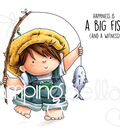 Stamping Bella 2 pk Rubber Cling Stamps-Fishing Squidgy