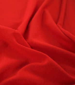 Rayon & Spandex Knit Fabric-Tomato Red Solids