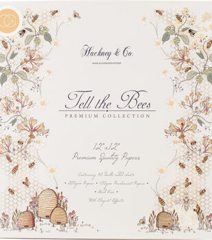 "Craft Consortium Double-Sided Paper Pad 12""X12""-Tell The Bees"