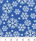 Snuggle Flannel Fabric -Snowflakes On Blue