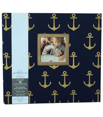 Park Lane 12''x12'' Scrapbook Album-Anchors on Blue
