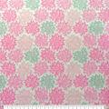 Soft & Comfy Fleece Fabric-Pink & Gray Cloudburst