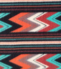 Anti-Pill Fleece Fabric 59\u0022-Chile Striped Chevron