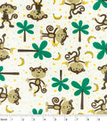 Snuggle Flannel Fabric -Monkeys And Bananas
