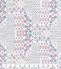 Snuggle Flannel Fabric-Pastel Aztec Patches