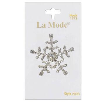 La Mode Crystal Snowflake 1 3/8In