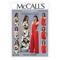 McCall\u0027s Pattern M7384 Misses\u0027 Tie Options Dress & Jumpsuit-Size 12-18