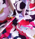 Knit Prints Double Brushed Poly Fabric-Multi Abstract Floral