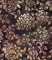 "Legacy Studio Indonesian Batiks Cotton Fabric 43""-Light Brown Floral, , hi-res"
