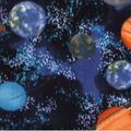 Anti-Pill Plush Fleece Fabric-Space Planets