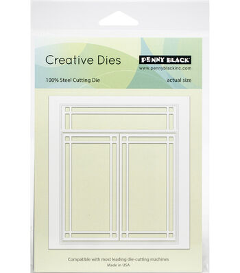 Penny Black Creative Dies-Art Deco Window