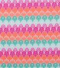 Blizzard Fleece Fabric-Floral Geometric Scales