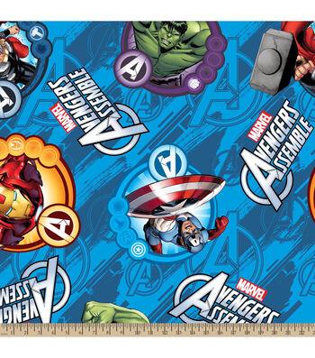 "Marvel Comics Avengers Fleece Farbic 59""-Avengers Assemble"