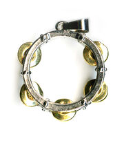 Blue Moon Beads Pendant Metal Tambourine Silver Gold, , hi-res