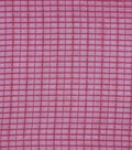 Check It Lurex Polyester Chiffon Fabric 57\u0022-Cabernet Shadow Plaid