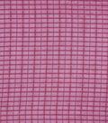 Check it Lurex Polyester Chiffon Fabric-Cabernet Shadow Plaid