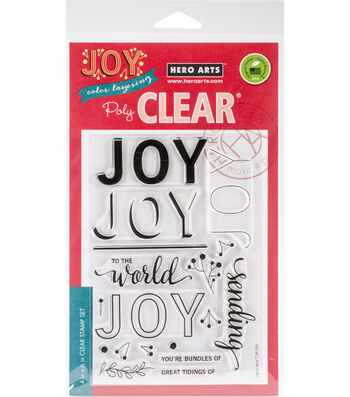 Hero Arts 18 pk Color Layering Clear Stamps-Joy Message