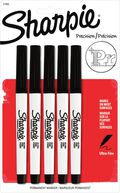 Sharpie Precision 5 pk Ultra Fine Point Permanent Markers-Black