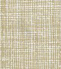 Keepsake Calico Cotton Fabric 43\u0022-Crosshatch Gold Metallic