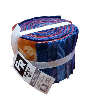 Jelly Roll Cotton Fabric Pack 2.5''x42''-Purple Batik