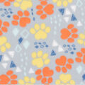Blizzard Fleece Fabric-Orange & Navy Triangle Geo