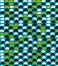 Quilter\u0027s Showcase Fabric 43\u0027\u0027-Black Half Circle on Capri Breeze