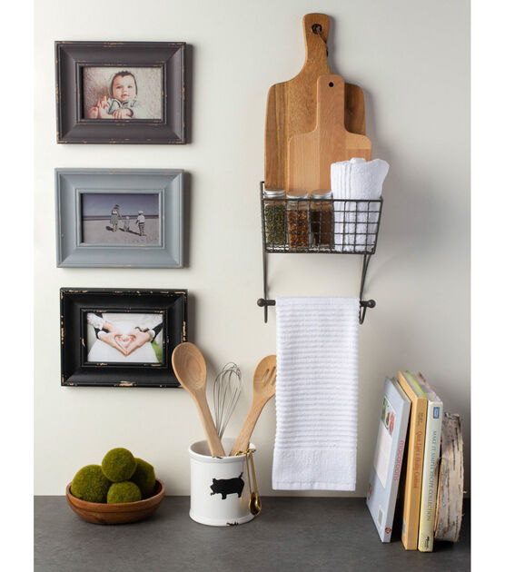 Design Imports DII Farmhouse Towel Rack Small Grey
