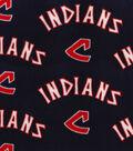 Cleveland Indians Fleece Fabric-Cooperstown