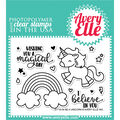 Avery Elle Clear 14 pk Clear Stamps-Be a Unicorn