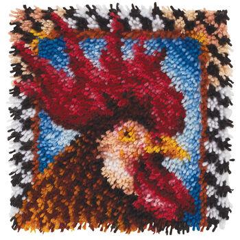 """Wonderart Latch Hook Kit 12""""X12""""-Rooster"""