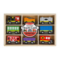 Wooden Train Cars-