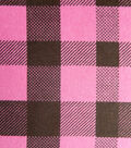 Snuggle Flannel Fabric -Raspberry Rose Check