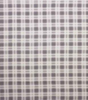 Super Snuggle Flannel Fabric-Melanie Gray Plaid