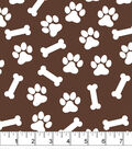 Snuggle Flannel Fabric 42\u0027\u0027-Brown Dog Print