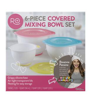 Rosanna Pansino By Wilton 6pc Covered Mixing Bowl Set