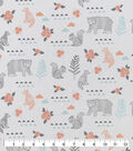 Snuggle Flannel Fabric-Geo Animals Floral