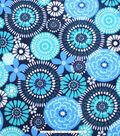 No Sew Fleece Throw 72\u0022-Floral Medallion Teal