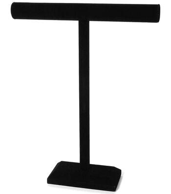 "Darice Velvet Single Bar Jewelry Stand Black 18"" x 14"""