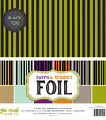 Double-Sided Dots & Stripes Foil 12\u0022X12\u0022-Fall Collection Pack
