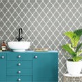 York Wallcoverings Wallpaper-Grey Modern Trellis