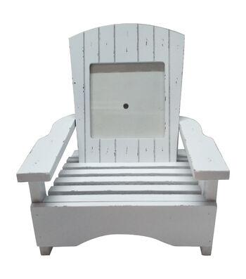 Camp Ann Wooden Chair Frame-White