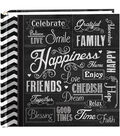 Pioneer 2-Up Chalkboard Happiness Print Album With 200 Pockets